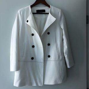 ZARA double breasted blazer/jacket. White. Size M.